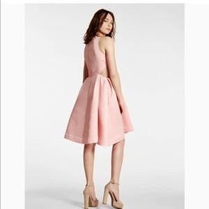 Halston Heritage Dresses - Halston Heritage Pink Frost Dress with cutouts